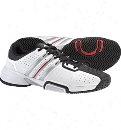 Adidas Tennis Men S Barricade Team - Running White/metallic Silver/black