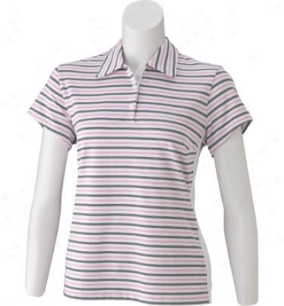 Adidas Women S Short Sleeve Tech Stripe Polo