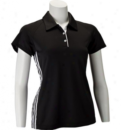Adidas Womens Climacool 3- Stripes Textured Polo