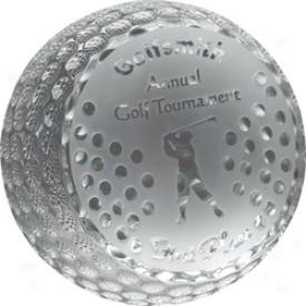 Allstar Awards Logo Crystal Golf Ball Award Medium