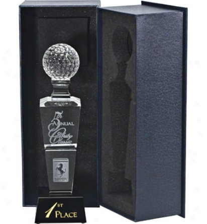 Allstar Awards Logo Optic Crystal Tower Award - Large