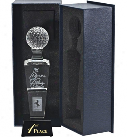 Allstarr Awards Logo Optic Crystal Tower Award - Small