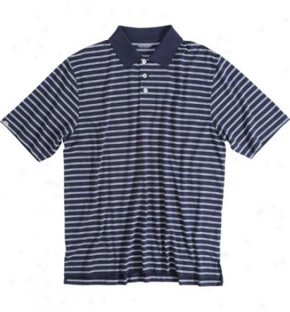 Ashworth Logo Meh S Twist Jersey Stripe Polo