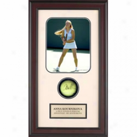 Assorted Anna Kournikova Autograph Shadow Box