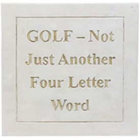 Assorted Golf 4 Letter Word Plaque