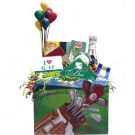 Assorted Golfer S Birthday Gift Basket