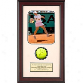 Assorted Justine Henin-hardenne Autograph Shadow Box