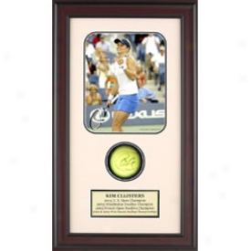 Assorted Kim Clijsters Autograph Shadkw Box