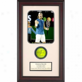 Assorted Lleyton Hewitt Autograph Shadow Box