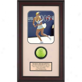 Assorted Maria Shzrapova Autograph Tennis Ball Shadow Box