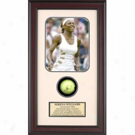 Assorted Serena S Williams Autograph Shadow Box
