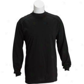 Ben Hogan Performance Long Sleeve Mock By the side of Piping