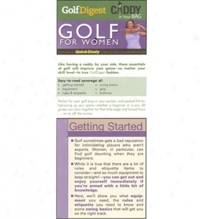 Booklegger Golf Digest Caddy In Your Bag: Golf For Women