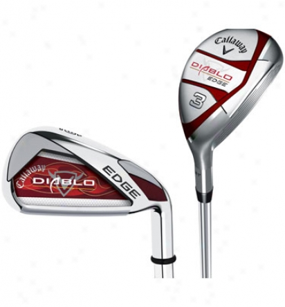 Callaway Diablo Edge Hybrid Combo Set 3h-4h With Graphite, 5-pw With Steel Shafts