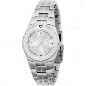 Callaway Ladies Round Dial Watch With Silver Bracelet