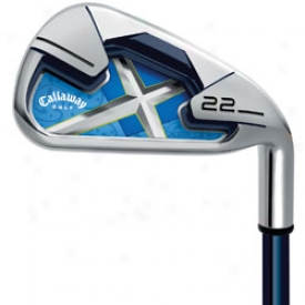 Callaway Lady X-22 Iron Set 4-pw, Sw With Graphite Shafts