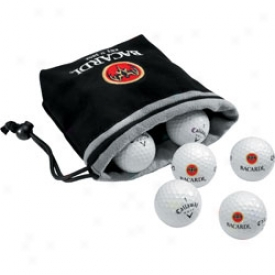 Callaway Logo 6 Ball Valuables Pouch With Tee Pack