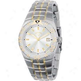 Callaway Men S Round Dial Watch With Pair Tone Bracelet