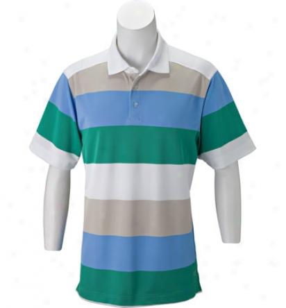 Callaway Men S Short Sleeve Pique Rugby Stripe Polo