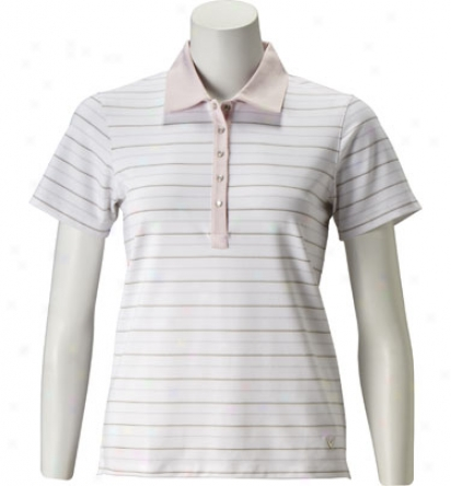 Callaway Women S Short Sleeve Stripe Polo - Multi Color Stripe