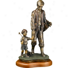 Clubhouse Collection Bronzed Father/son Statue