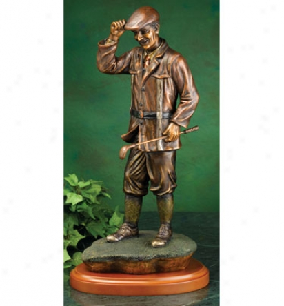 Clubhouse Collection Bronzed Male Golfer Statue, 17