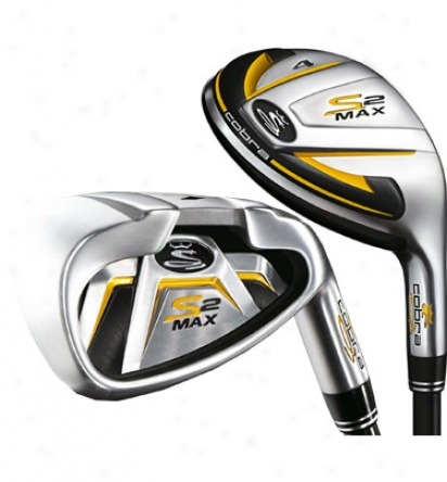 Cobra S2 Max Hybrid Irom Set 3h, 4h, 5h, 6-pw With Graphite Shafts
