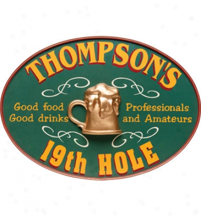 Davis & Small Decor Personalized Oval 19th Hole Sign
