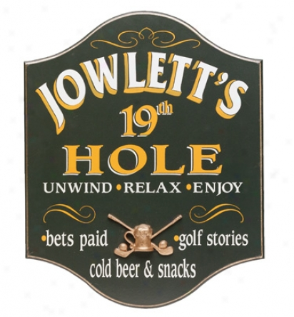 Davis & Small Decor Personalized Awkward 19th Hole Sign