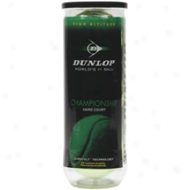 Dunlop Tennis Championship High Altitude Tennis Balls - Can