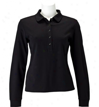 Ep Pro Women S Long Sleeve Jersey Polo With Extended Placket