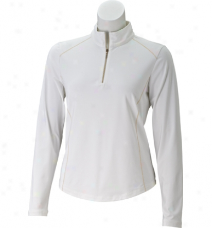 Ep Pro Women S Long Sleeve Zip Mock Polo
