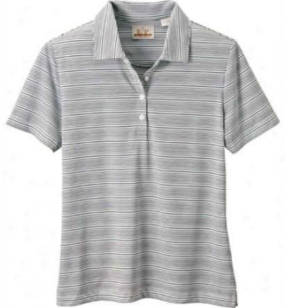 Ep Pro Women S Short Sleeve Striped Polo