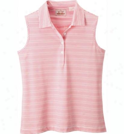 Ep Pro Women S Tour Tech Sle3veless Striped Polo