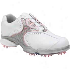Footjoy Closeout Dry Joys-silver/pink (fj # 99115)
