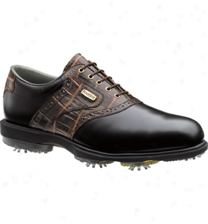 Footjoy Closeout Dryjoys Men S Golf Shoes - Dark Brown Gator (fj#5372)9