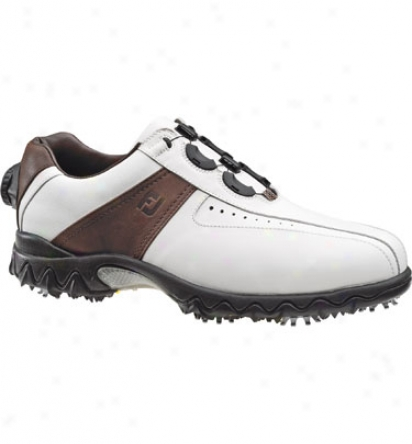 Footjoy Contour Reelfkt - White/brown (fj#54055)