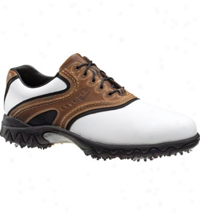 Footjoy Contour Series  - White/brown/black (fj#54024)