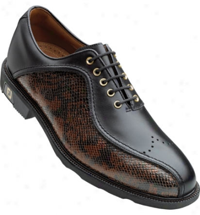 Footjoy Icon - Blac/kbrown Snake (fj#52308)