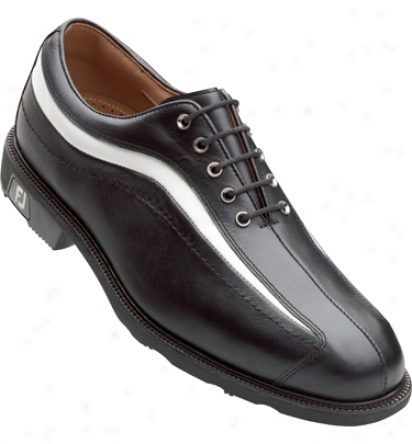 Footjoy Icon - Black/white Patent Nuwave (fj#52354)