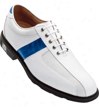 Footjoy Icon - White/blue Thin Saddl (fj#52251)