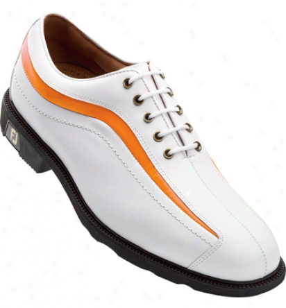 Footjoy Icon - White/orange Patent Nuwave (fj#52339)