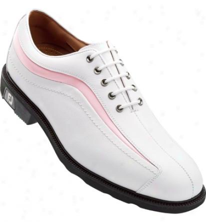 Footjoy Icon - White/pink Patent Nuwave (fj#52322)