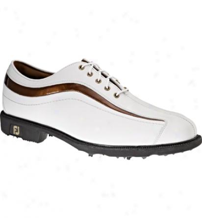 Footjoy Men S Icon - White/bronze Patent Nuwave (fj#52315)