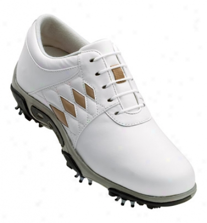 Footjoy Summer Series - White/taupe Argyle (fj#98794)