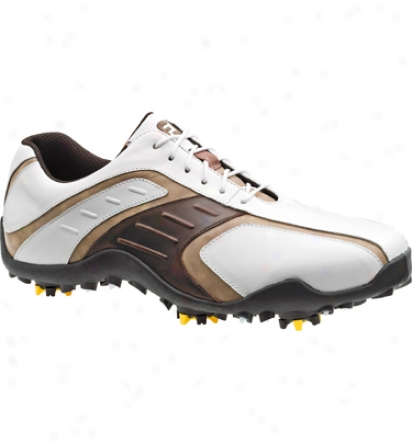 Footjoy Superlites - White/brown/taupe (fj58092)
