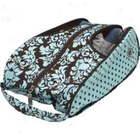 Glove It Brown-turquoise Damask Shoebag