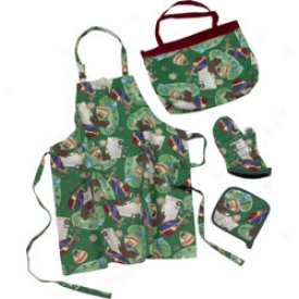 Golf Gifts & Gallery 4pv Fabric Ktichen-wear Set