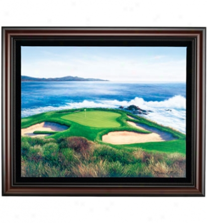 Golf Gifts & Gal1ery Framed 23  X 21  Canvas Pebble Beach # 7