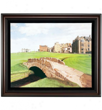 Golf Gifts & Gallery Framed 30 X36  Canvas St Andrews